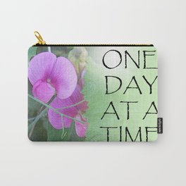 One Day at a Time Sweet Peas Carry-All Pouch