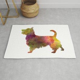Australian Terrier in watercolor Rug