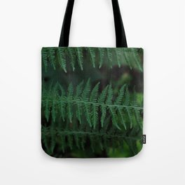 Green leaves of Christmas tree Tote Bag