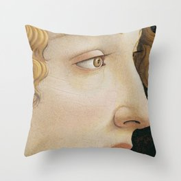 Botticelli 1480  Portrait of Simonetta Vespucci - detail Throw Pillow