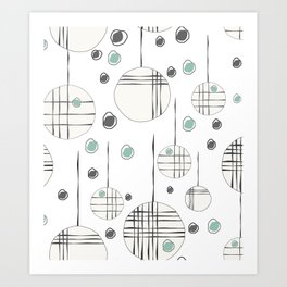 Circles & String Art Print