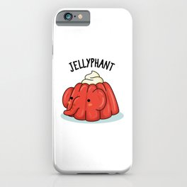 Jellyphant Cute Jello Elephant Pun iPhone Case