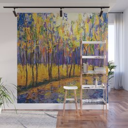 Colorful Fall Trees Wall Mural
