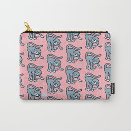 loony monkey pattern Carry-All Pouch
