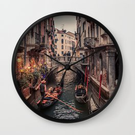 A Gondola Ride in Venice Wall Clock
