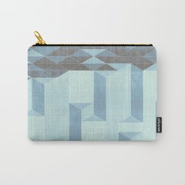 Dusty Triangle columns - blue ocean Carry-All Pouch