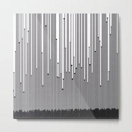 Black Rain (Up) Metal Print