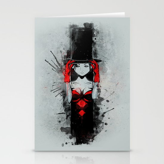 Top Hat Lady Stationery Cards
