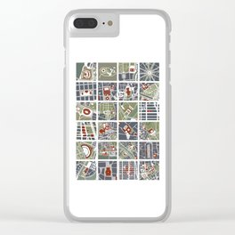 Urban fragments I of NewYork, Paris, London, Berlin, Rome and Seville Clear iPhone Case