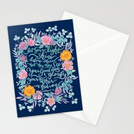 Let Your Light Shine- Matthew 5:16 Stationery Cards
