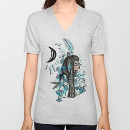 Feather of Ma'at Unisex V-Neck