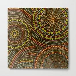Dot Art Circles Aboriginal Art #2 Metal Print