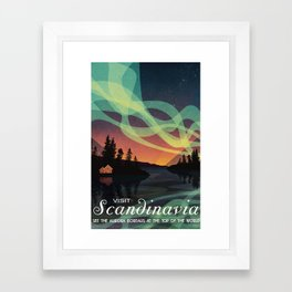 Scandinavia Northern Lights Framed Art Print
