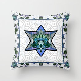 Starry Knight Throw Pillow