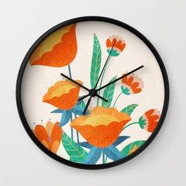 Summer Flowers I Wall Clock