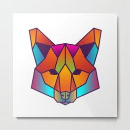 Fox | Geometric Colorful Low Poly Animal Set Metal Print