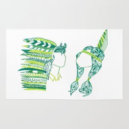 Peter Pan and Tiger Lilly Rug