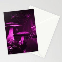 Glowing Purple  Mushrooms Stationery Cards