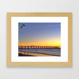 Kiting Hermosa Framed Art Print