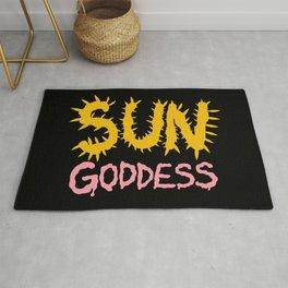 Sun Goddess in Dark Rug