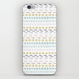 Line Dot Line Triangle iPhone Skin