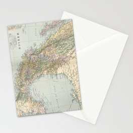 Vintage Map of Mexico (1891) Stationery Cards