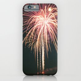 Fireworks Over Lake Michigan in Manistee iPhone Case