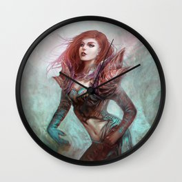 Diamond in the rough - Fantasy magic girl character concept Wall Clock