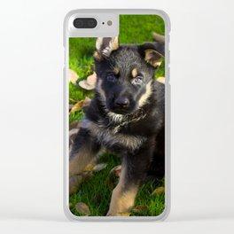 Little German Shepherd puppy Clear iPhone Case