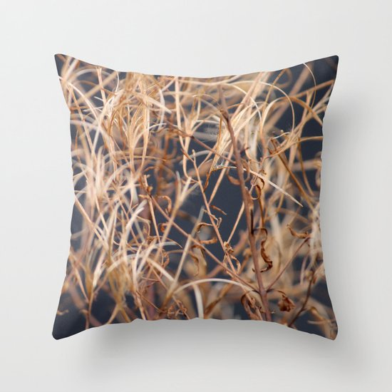 Dry Grass Throw Pillow