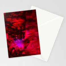 Ruby Red Abstract w/Shining Light Stationery Cards