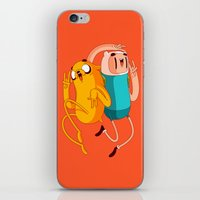 finn and jake iPhone & iPod Skins featuring Finn & Jake by Daniel Mackey
