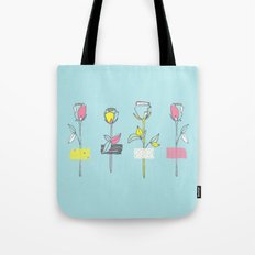 Rosewall (on blue) Tote Bag