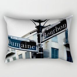 Dumaine and Bourbon - Street Sign in New Orleans French Quarter Rectangular Pillow
