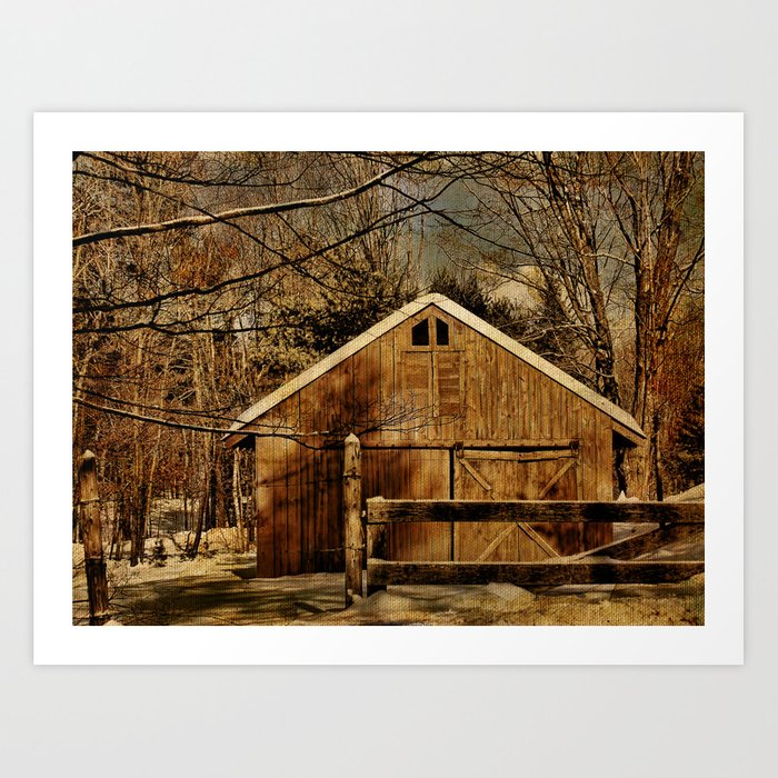 the second chance barn art print by pamelasdreams society6the second chance barn art print