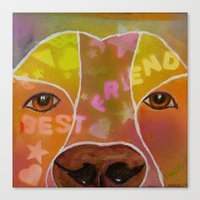 best friend Canvas Prints featuring Best Friend by Roger Wedegis