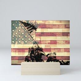 United Iwo Jima Mini Art Print