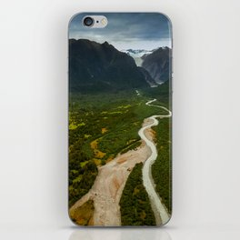 New Zealand - Flying through the Fox Glacier valley iPhone Skin