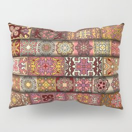 Vintage patchwork with floral mandala elements Pillow Sham