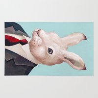 rabbit Area & Throw Rugs featuring Rabbit by Animal Crew