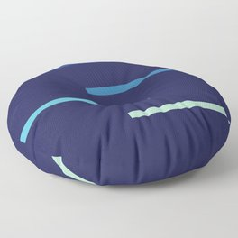 Abstract Minimal Retro Stripes Surf Floor Pillow