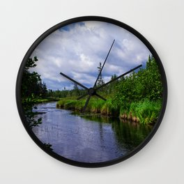 Boundary Waters Entry Point Little Indian Sioux River Wall Clock
