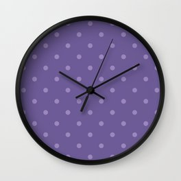 Ultra violet polka dot pattern Wall Clock