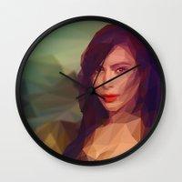 kardashian Wall Clocks featuring La Gioconda / Kim Kardashian / Mona Lisa by Breno Bitencourt