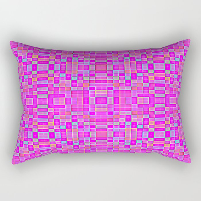 Candy Colored Pixels Rectangular Pillow