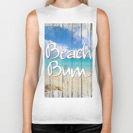Beach Bum Coastal art Biker Tank