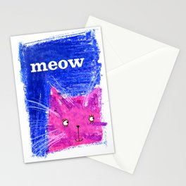 Crayon Cat Stationery Cards