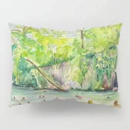 Krause Springs - historic Texas natural springs swimming hole Pillow Sham