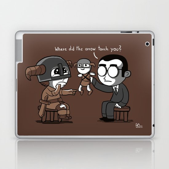 Knee Trouble Laptop & iPad Skin