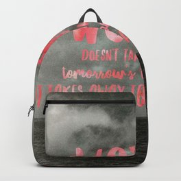 Motivation Poster Black and White Moody Skies with Bright Pink Typography Backpack